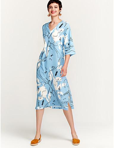 8609687d9453 Γυναικεία Βαμβάκι Τουνίκ Φόρεμα - Φλοράλ