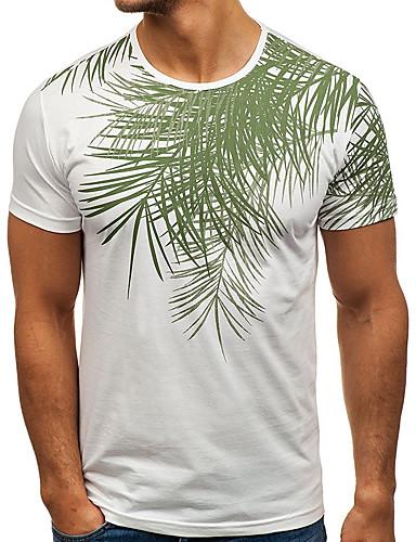 Bărbați Tricou De Bază - Mată Tropical Leaf
