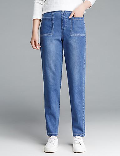 Pentru femei De Bază Blugi Pantaloni Mată