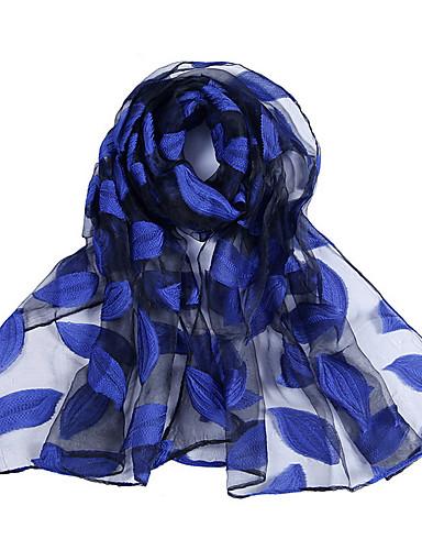 Χαμηλού Κόστους Women's Scarves-Γυναικεία Μονόχρωμο / Φλοράλ / Γεωμετρικό Ρεϊγιόν / Πολυεστέρας / Δαντέλα Δαντέλα / Δίχτυ - Ορθογώνιο / Άνοιξη / Καλοκαίρι