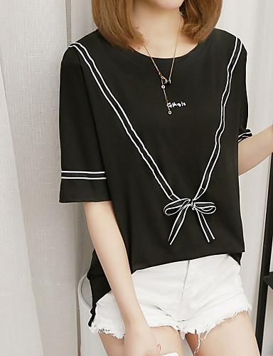 billige Topper til damer-T-skjorte Dame - Bokstaver Hvit L