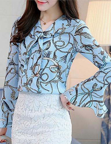 Pentru femei V Adânc Bluză Floral