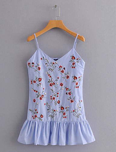 Pentru femei Cu Bretele Tricou Ieșire Floral
