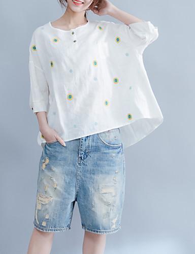 Pentru femei Mărime Plus Size Tricou Floral