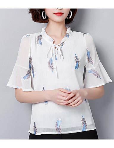 Pentru femei În V Bluză Floral