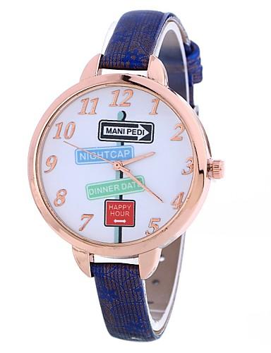Pentru femei Ceas de Mână Quartz Creative Ceas Casual Mare Dial PU Bandă Analog Modă minimalist Negru / Albastru / Roșu - Rosu Albastru Roșu Închis Un an Durată de Viaţă Baterie