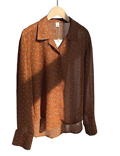 Pentru femei Guler Cămașă Bluză Ieșire Buline