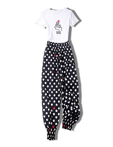Pentru femei Set - Buline, Pantaloni