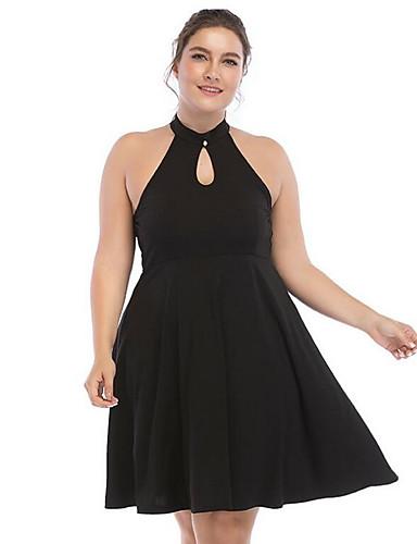 Pentru femei De Bază Mărime Plus Size Zvelt Pantaloni - Mată Negru