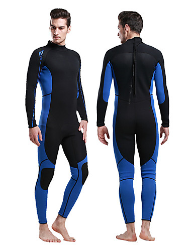 008eab5001 Men s Full Wetsuit 3mm Diving Suit UV Resistant Stretchy Long Sleeve Back  Zip Patchwork Autumn   Fall Spring Summer   Winter   Micro-elastic