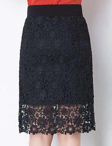 Žene Bodycon Izlasci Suknje - Jednobojni Visoki struk