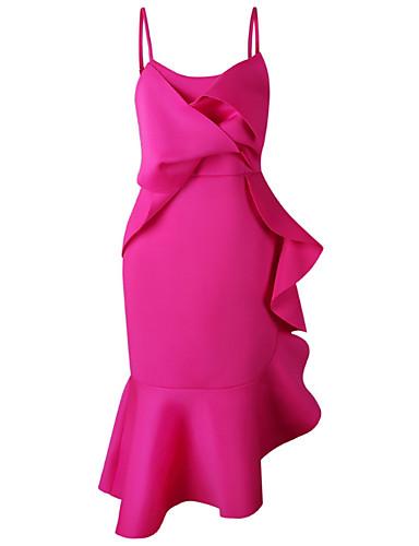 Žene Izlasci Korice Haljina S naramenicama Midi / Asimetričan