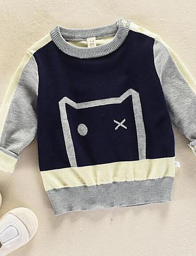 Diligente Bambino Da Ragazzo Essenziale Con Stampe Manica Lunga Standard Cotone Maglione E Cardigan Blu Marino #06839358 Fabbricazione Abile