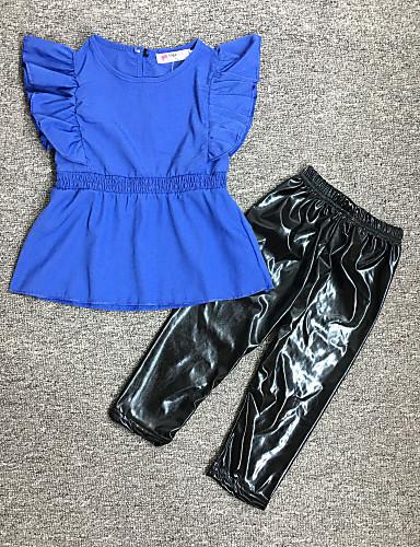 Dijete Djevojčice Jednobojni Kratkih rukava Komplet odjeće