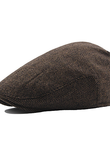 رخيصةأون أسعار تصل إلى 9.99$-قبعة قلنسوة لون سادة رجالي عتيق / عمل