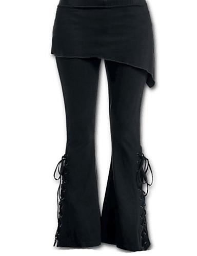abordables Pantalons Femme-Femme Sophistiqué Grandes Tailles Quotidien Pour Bottes (Bootcut) Pantalon - Couleur Pleine Blanche S M L
