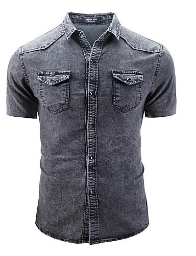 Majica Muškarci - Vintage / Osnovni Dnevno / Vikend Jednobojni Traper
