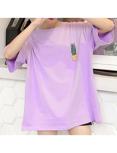 Majica s rukavima Žene Dnevno / Izlasci Pamuk Voće / Ljeto