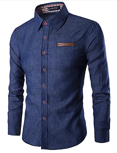 Majica Muškarci - Osnovni Dnevno Jednobojni Kolaž