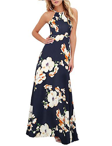 8fcb8a4ba357 Γυναικεία Πάρτι Λεπτό Θήκη Φόρεμα Μακρύ Ψηλή Μέση Δένει στο Λαιμό