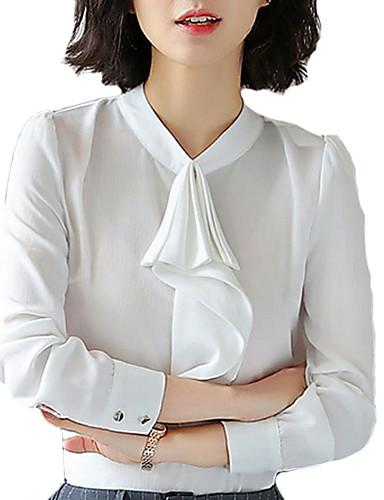 Majica Žene - Osnovni Rad Jednobojni Kragna košulje