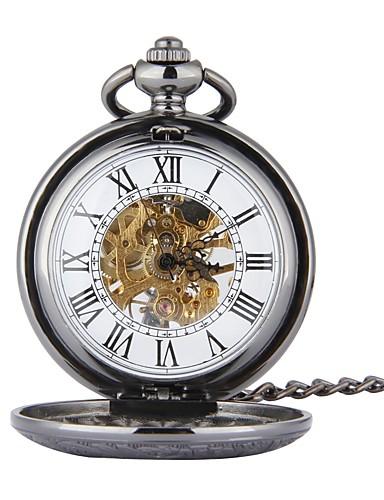 Pánské Kapesní hodinky Automatické natahování Černá S dutým gravírováním  Hodinky na běžné nošení Czaszka Analogové Czaszka 7088083950