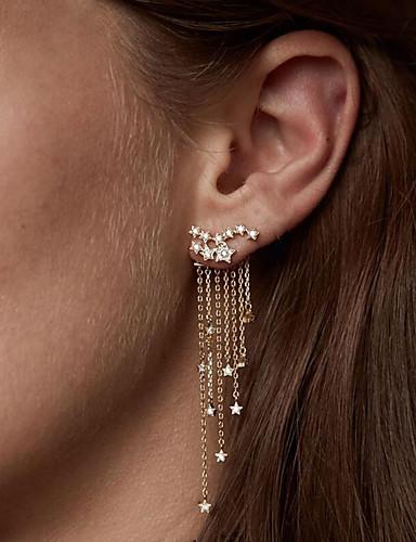 3c1c2a17b Women's Crystal Cubic Zirconia tiny diamond Drop Earrings Imitation Diamond Earrings  Drop Creative Star Ladies Fashion Elegant Jewelry Gold / Silver For ...