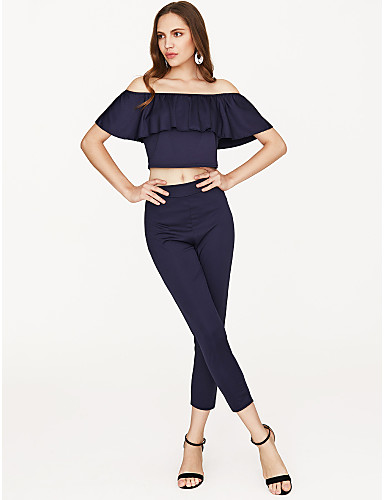 fb618663f Women s Slim Crop Top   Set - Solid Colored   Other