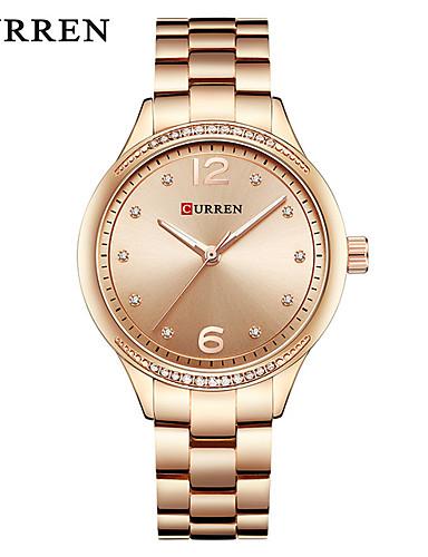 126928f26d7 CURREN Mulheres Relógio Elegante Bracele Relógio Quartzo Prata   Dourada  Impermeável Calendário Novo Design Analógico senhoras Casual Fashion -  Dourado ...