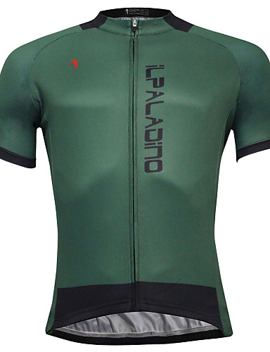 cheap Cycling Clothing-ILPALADINO Men's Short Sleeve Cycling Jersey - Dark Green Solid Color Bike Jersey Top Quick Dry Sports Polyester Coolmax® Eco-friendly Polyester Mountain Bike MTB Road Bike Cycling Clothing Apparel