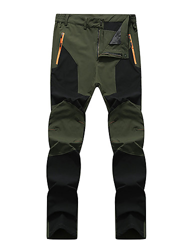 cheap Outdoor Clothing-Men's Solid Color Hiking Pants Outdoor Waterproof Windproof Breathable Quick Dry Autumn / Fall Spring Summer Spandex Pants / Trousers Bottoms Camping / Hiking Hunting Climbing Grey Green / Black Khaki