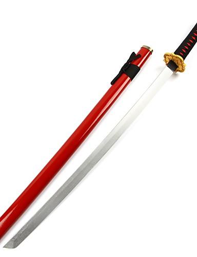 cheap Anime Cosplay Swords-Accessories Inspired by Touken Ranbu Kashuu Kiyomitsu Anime Cosplay Accessories Anime Accessory Wood Unisex Hot 855