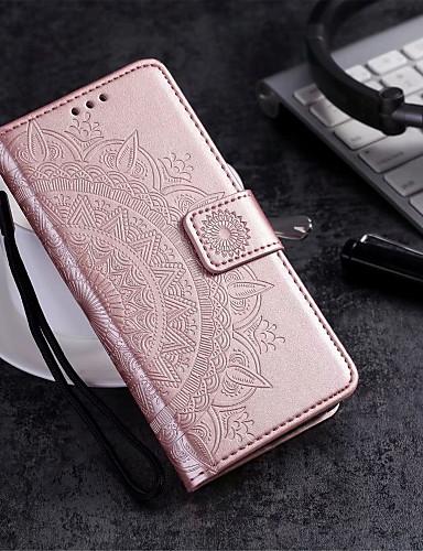 Кейс для Назначение Motorola MOTO G6 / Moto G6 Play / Moto G6 Plus Кошелек / Бумажник для карт / со стендом Чехол Цветы Твердый Кожа PU / Мото G5 Plus