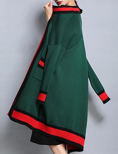 abordables Hauts pour Femmes-Femme Sortie Rétro Vintage Longue Set - Bloc de Couleur Robes Col en V