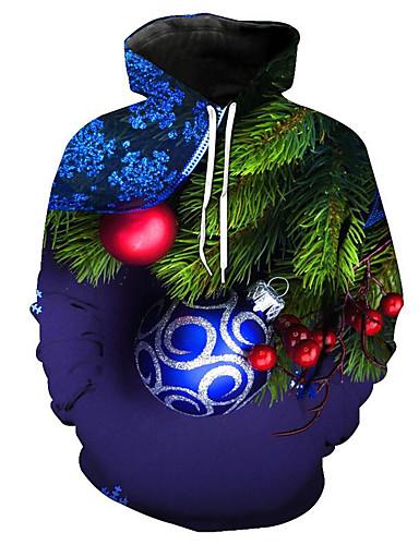 voordelige Uitverkoop-Heren Standaard Broek - Geometrisch blauw / Kerstmis / Capuchon / Lange mouw