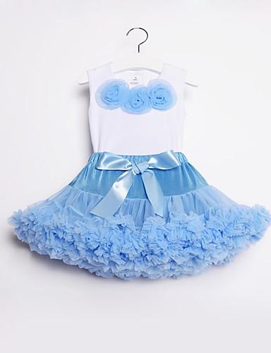 ffb3ccb69 Kids / Toddler Girls' Active / Basic Sports / Holiday Solid Colored Bow /  Layered Sleeveless Regular Cotton / Nylon Clothing Set Purple