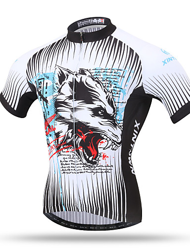 88d24ed6a XINTOWN Men s Short Sleeve Cycling Jersey - Gray Bike Top Breathable Quick  Dry Back Pocket Sports Terylene Mountain Bike MTB Road Bike Cycling Clothing  ...