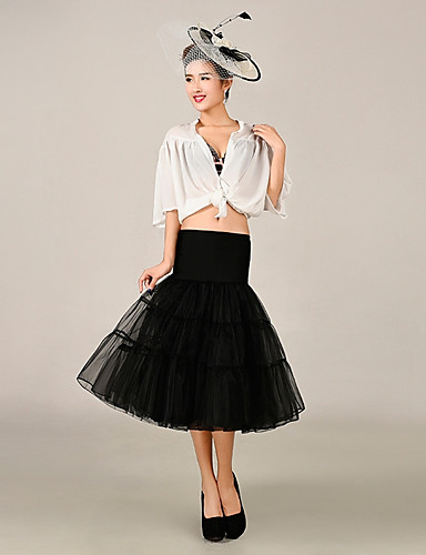 Princeza Haljine Petticoat kratka baletska suknja Mermaid and Trumpet Gown Slip 1950-te Gotika Pink Bijela Zelen / Srednjovjekovni / Pod suknjom / Krinolina
