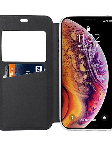 Θήκη Za Apple iPhone XS / iPhone XR / iPhone XS Max Utor za kartice / sa stalkom / Zaokret Korice Jednobojni / Țiglă Tvrdo PU koža