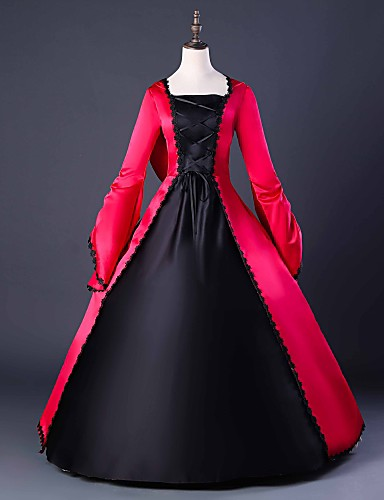 2b95a3f113b72 Capes Gothic Medieval Costume Gothic Lolita Dress Women's Dress Party  Costume Masquerade Ball Gown Red Vintage Cosplay Party Prom Long Sleeve  Puff Balloon ...
