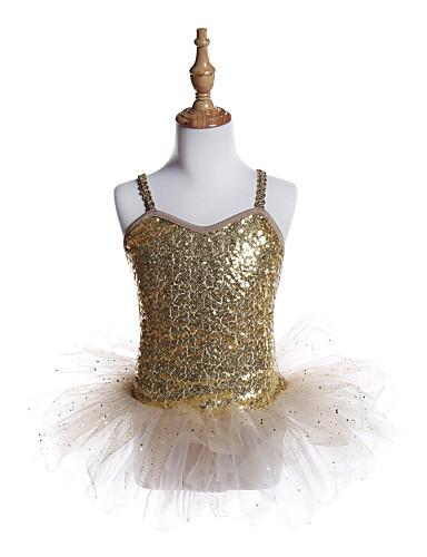 preiswerte Ballettbekleidung-Ballett Kleider Mädchen Training / Leistung Polyester / Elasthan / Pailletten Pailetten Ärmellos Kleid