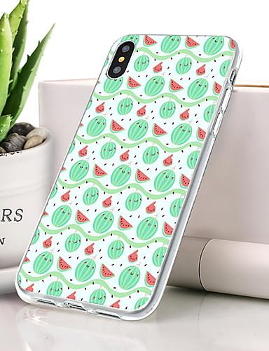 Θήκη Za Apple iPhone XS Protiv prašine / Ultra tanko / Uzorak Stražnja maska Hrana / Voće Mekano TPU
