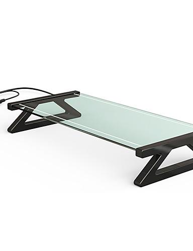 halpa Telineet ja jäähdytyslevyt-LITBest Kannettavan pöydän pöytä Lasi USB-portit Tuuletin