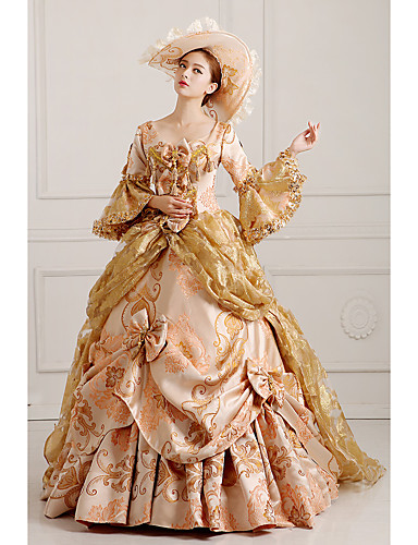 8bfedeed86f9b Rococo Victorian 18th Century Costume Women's Dress Party Costume  Masquerade Red / Golden Vintage Cosplay Lace Cotton Party Prom Long Sleeve  Poet Sleeve ...