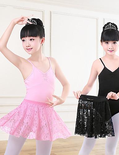 preiswerte Ballettbekleidung-Ballett Turnanzug Mädchen Training / Leistung Elastan / Lycra Horizontal gerüscht / Kombination Ärmellos Gymnastikanzug / Einteiler