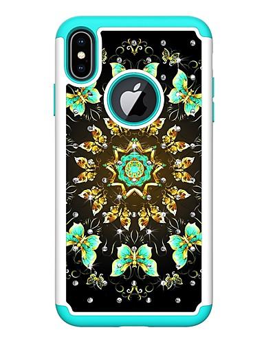 Θήκη Za Apple iPhone XS / iPhone XR / iPhone XS Max Štras / Uzorak Stražnja maska Rukav leptir Tvrdo PU koža