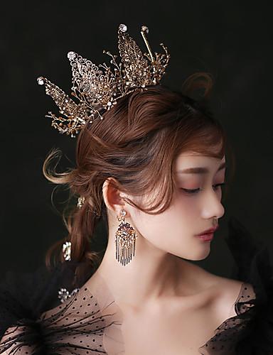 halpa Asut, asusteet, ja korut-Musta joutsen Kruunu Vintage Gothic Lolita Barokki Tyylikäs Korvarenkaat Tiarat otsa Crown Käyttötarkoitus Naamiaiset Prom Hääjuhla Naisten Tyttöjen Kristalli Musta Pukukorut
