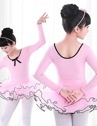 0635dad1a6e Μπαλέτο Φορέματα Κοριτσίστικα Εκπαίδευση / Επίδοση Ελαστίνη / Λίκρα Πλισέ /  Διαφορετικά Υφάσματα Μακρυμάνικο Φόρεμα