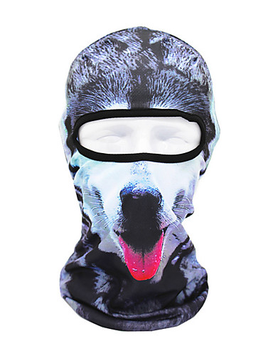 cheap Cycling Clothing-Pollution Protection Mask UV Resistant Breathable Moisture Wicking Dust Proof Bike / Cycling Gray+White Brown+Gray Grey Polyester for All Adults Outdoor Exercise Back Country Bike / Cycling Animal