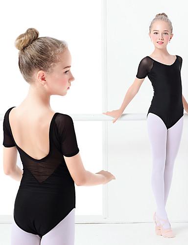 3cc98a6a370 Μπαλέτο Φορμάκια Κοριτσίστικα Εκπαίδευση / Επίδοση Ελαστίνη / Λίκρα  Διαφορετικά Υφάσματα Κοντομάνικο Φορμάκι / Ολόσωμη φόρμα